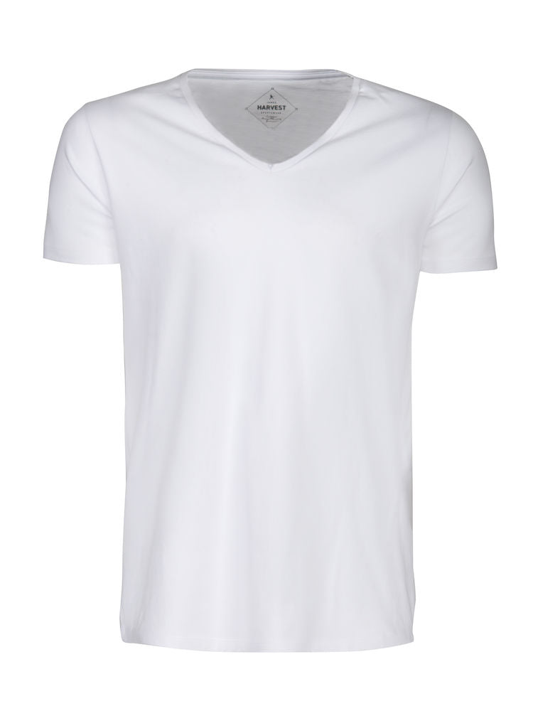 Harvest Whailford slub V-neck White