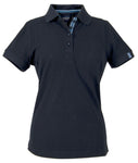 Harvest Avon Ladies Pique Navy
