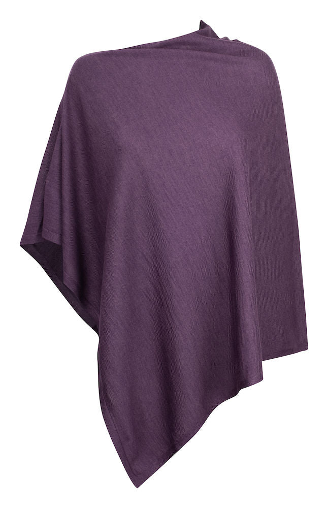 Harvest Poncho Deep Lavender One size