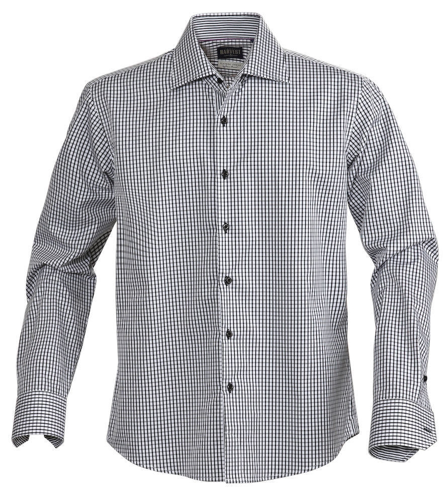 Harvest Tribeca checked shirt black