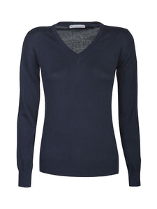 Harvest Westmore Lady merino pullover Navy S
