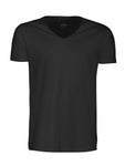 Harvest Whailford slub V-neck Black