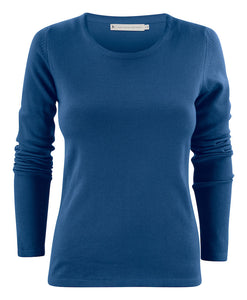 Harvest Portland Lady r-neck pullover Blue fog XL