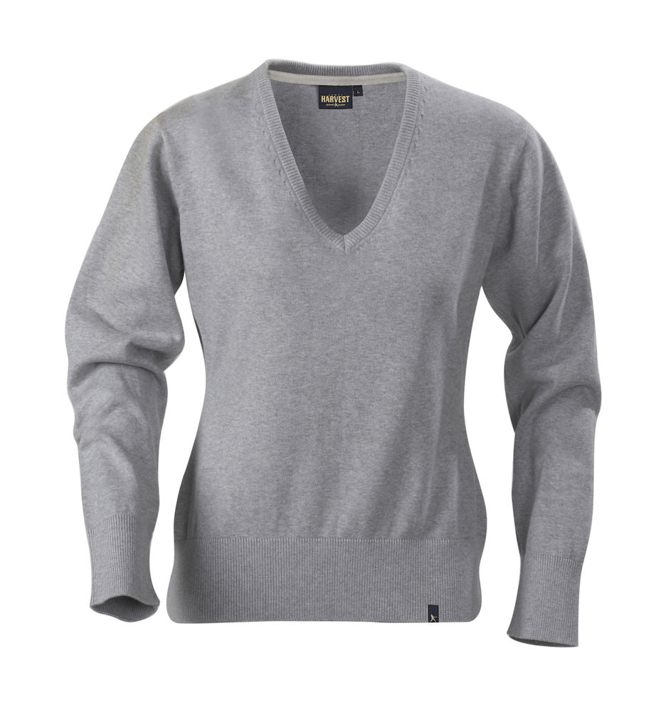 Harvest Loraine Ladies v-neck Grey melange