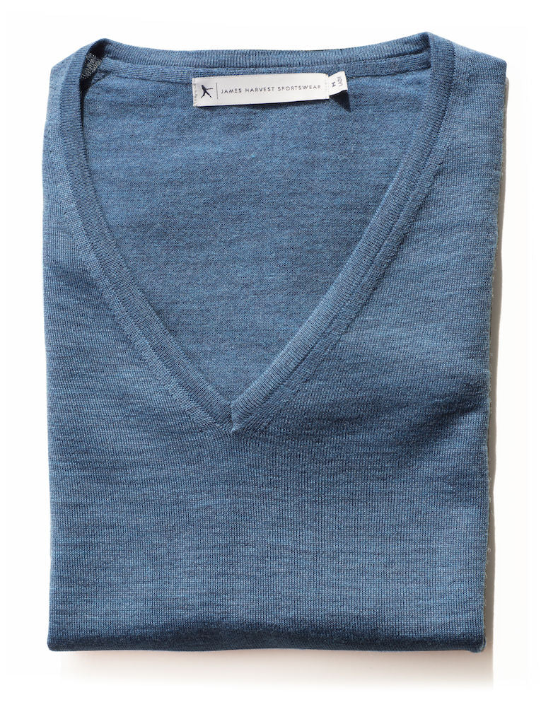 Harvest Westmore Lady merino pullover Petrol mel S