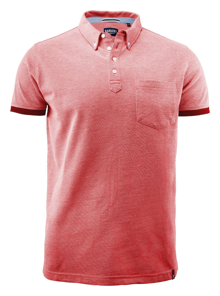 Harvest Larkford polo Red melange