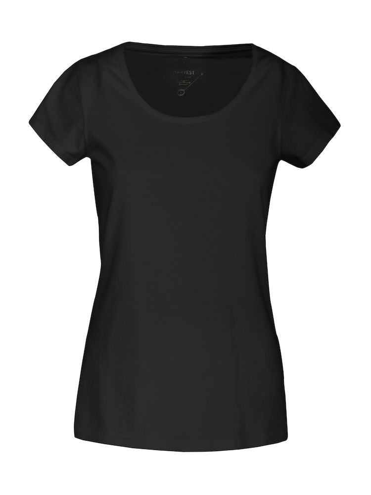 Harvest Twoville Lady slub U-neck Black