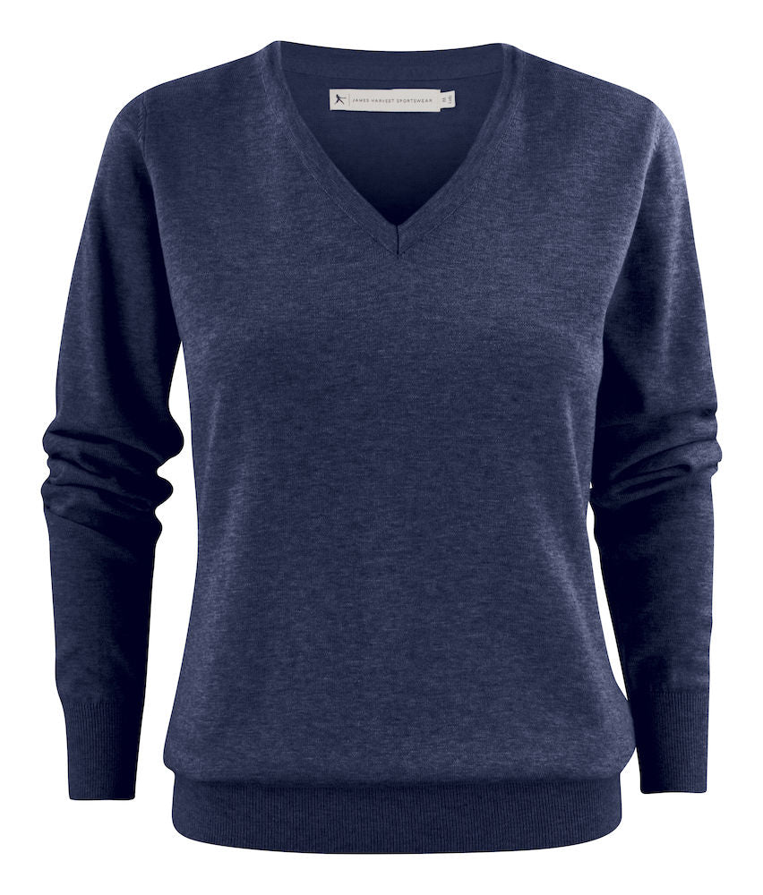 Harvest Ashland Lady V-neck Blue melange
