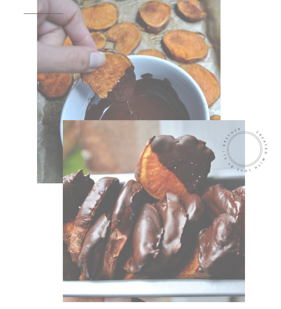 Chocolate Dipped Sweet Potato