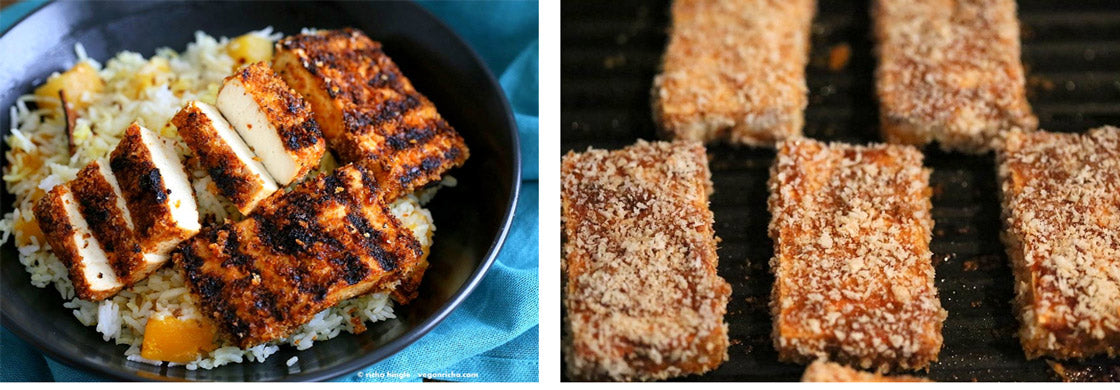 Spicy Crispy Breaded Tofu Strips Vegan Recipe