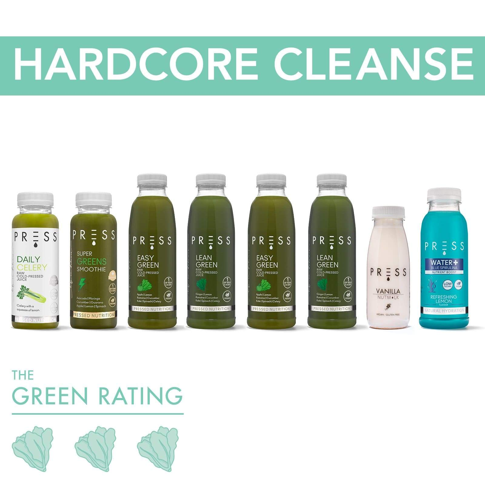 Hardcore Juice Cleanse - PRESS London