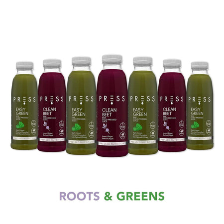 The Daily Roots & Greens 500ml (£6/day, 14 days)
