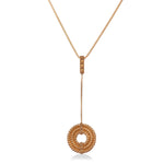 Apollo II Drop Pendant</br>Sterling Silver Plated in 18ct Rose Gold