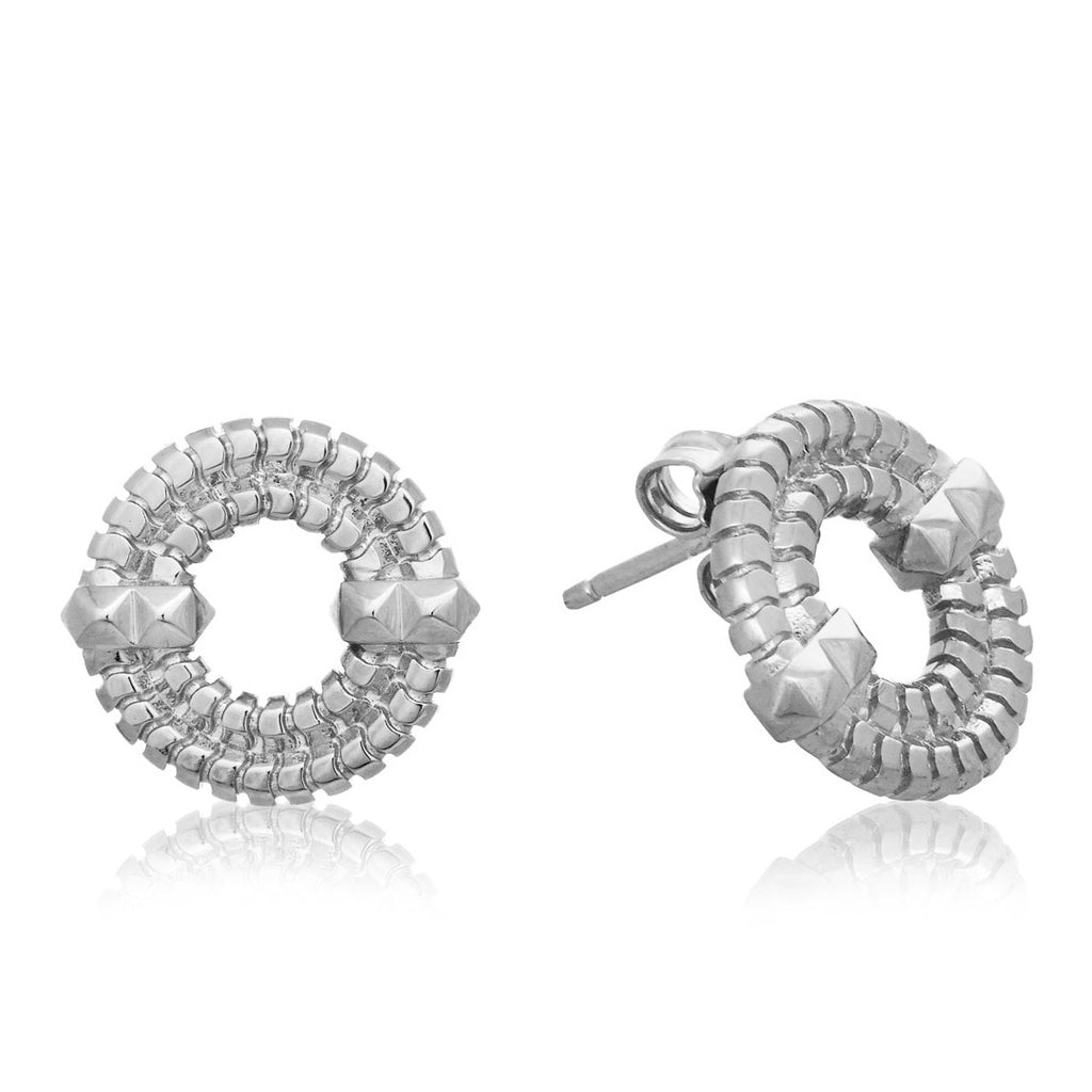 Apollo II Stud Earrings  <br />Sterling Silver