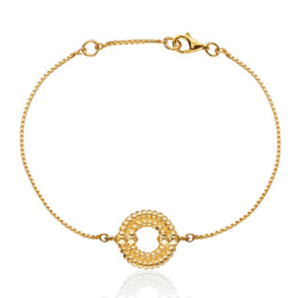 Apollo Chain Bracelet </br> 18ct Yellow Gold on Sterling Silver