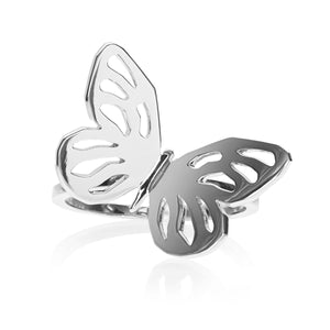 Butterfly Single Ring </br> Sterling Silver plated in Rhodium