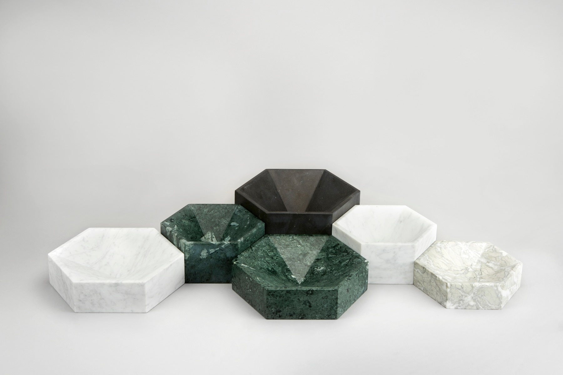 Hexagonal Constellation Bowl Small & Low </br> Verde Antico
