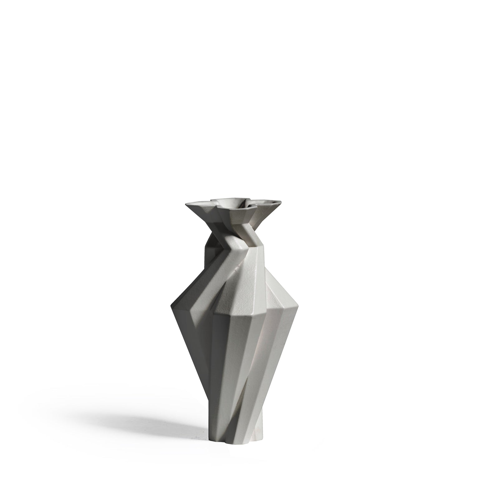 Fortress Spire Vase <br/> Grey Ceramic