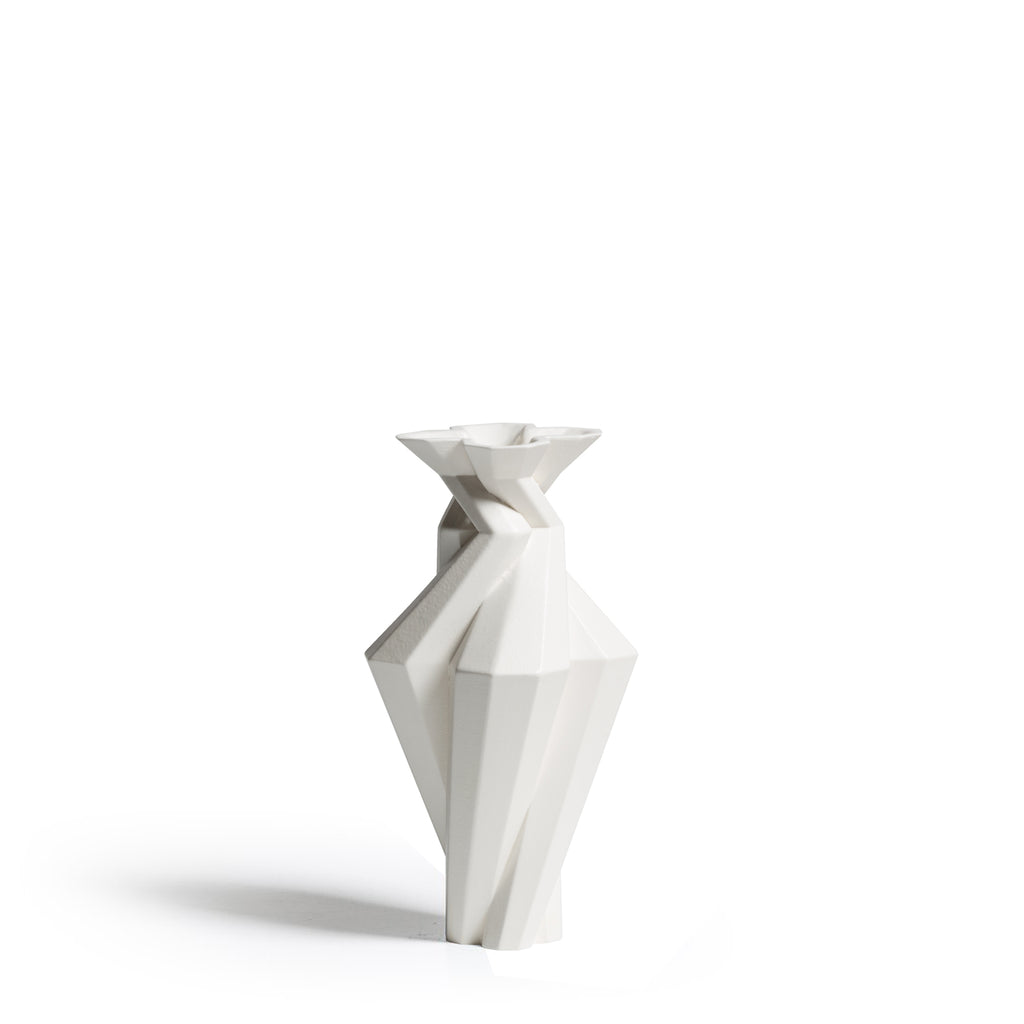 Fortress Spire Vase <br/> White Ceramic