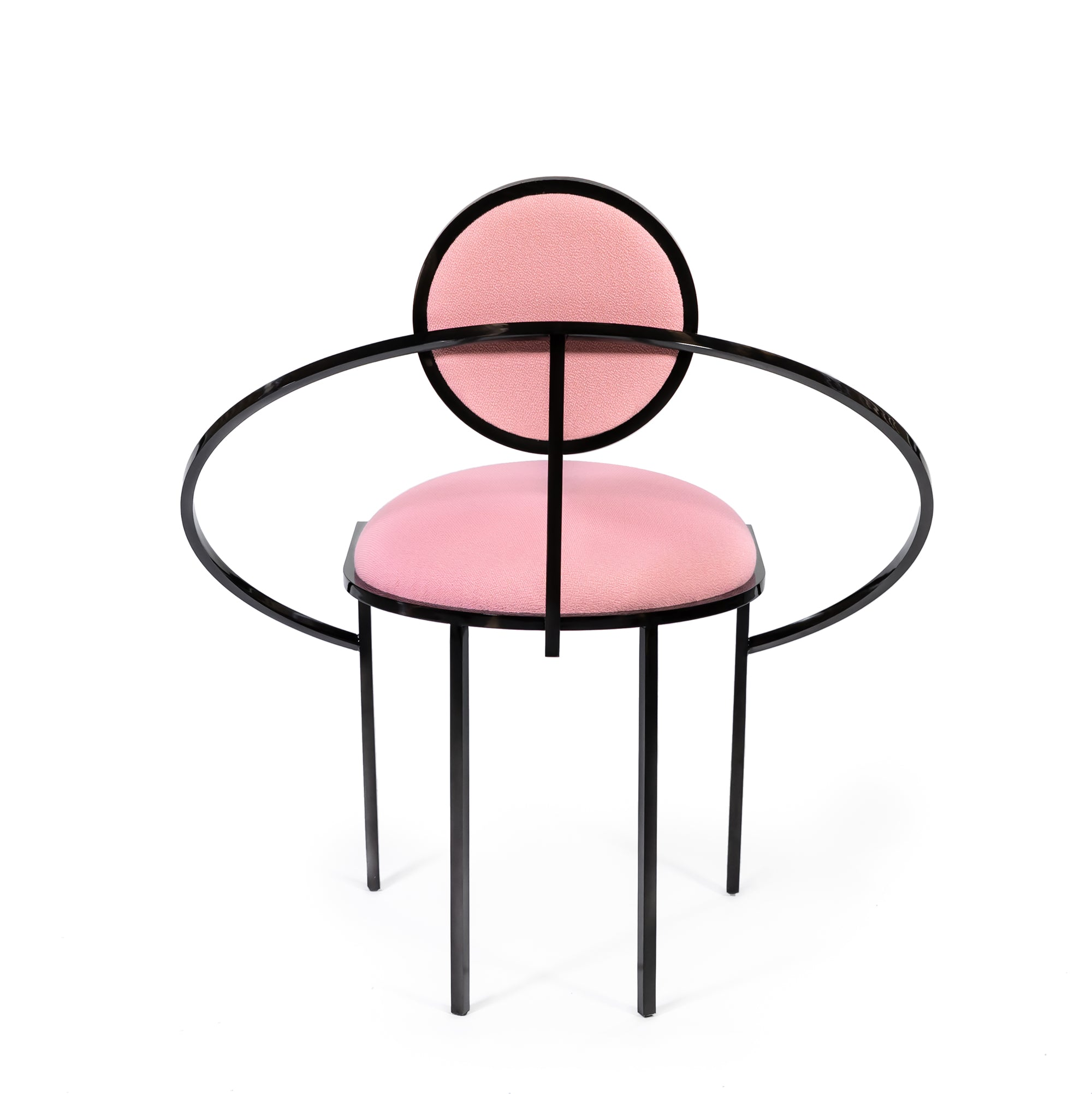 Orbit Chair </br> Steel and Wool, Pink