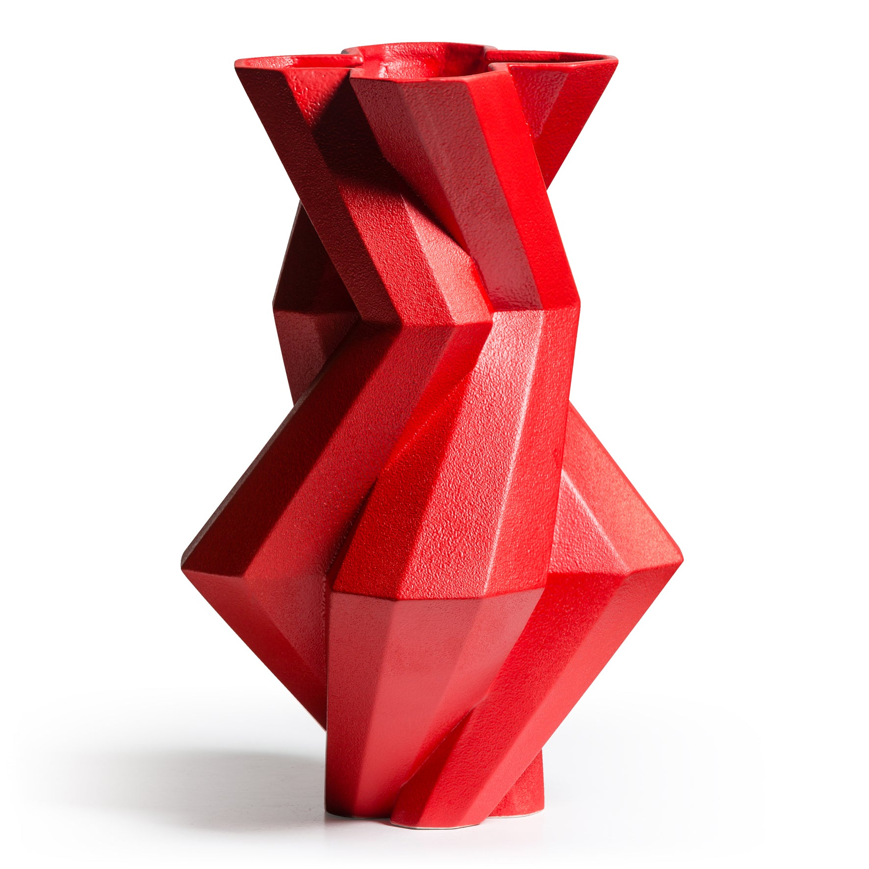 Fortress Castle Vase </br> Red Ceramic