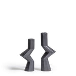 Fortress Militia Candlesticks <br/> Iron Ceramic