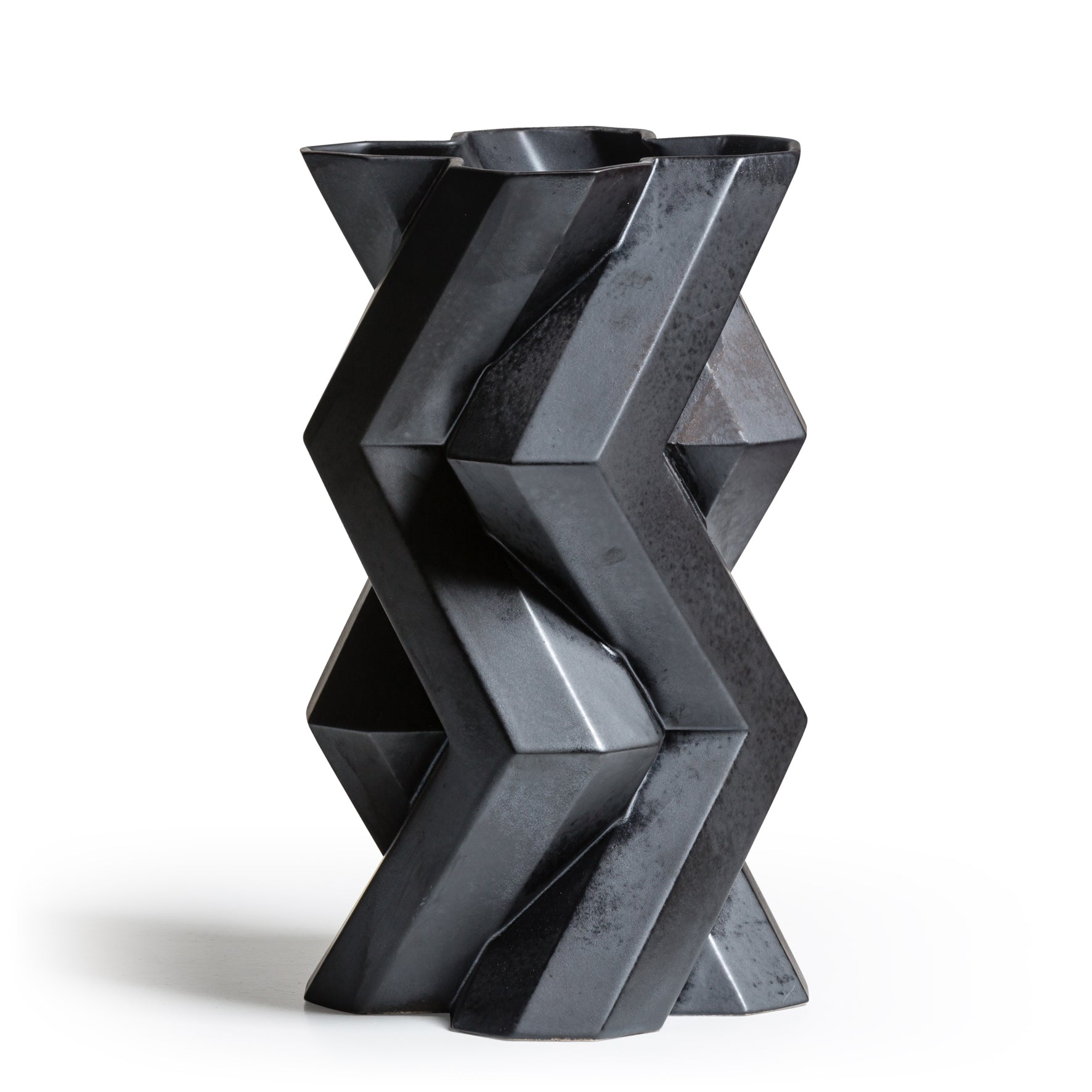 Fortress Tower Vase </br> Iron Ceramic