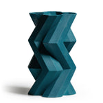 Fortress Tower Vase </br> Blue Ceramic