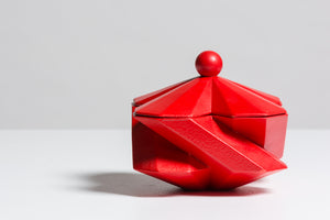 Fortress Treasury Box <br/> Red Ceramic