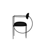 Lunar Chair </br> Steel and Wool, Black