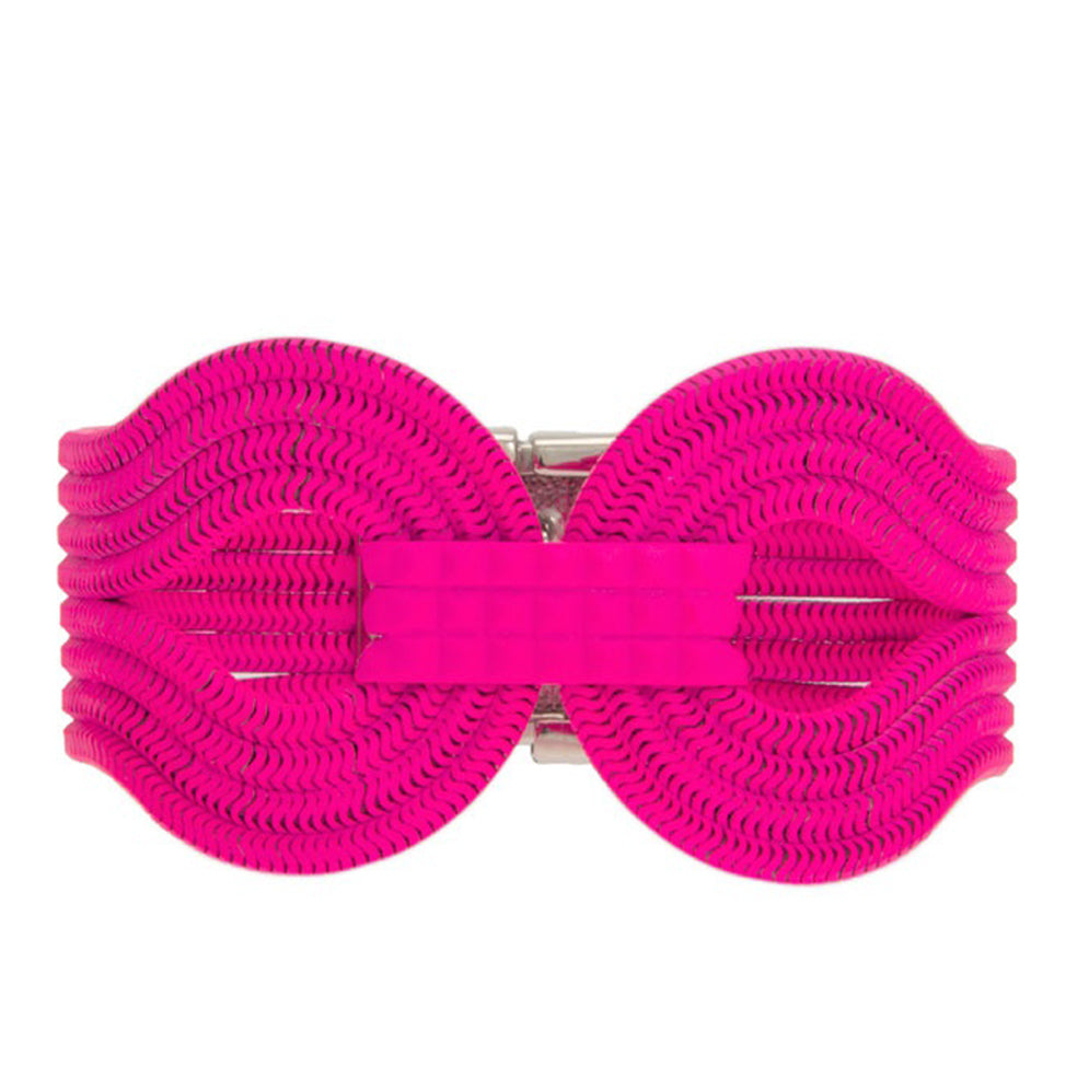 Gagarin Bracelet <br /> Neon Pink on Brass