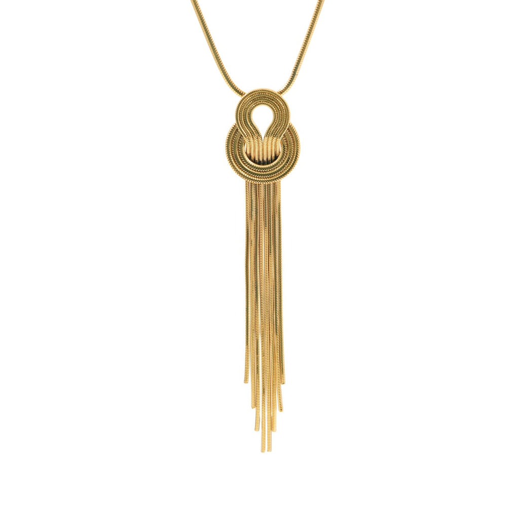 Saturn Necklace <br /> 22ct Yellow Gold on Brass