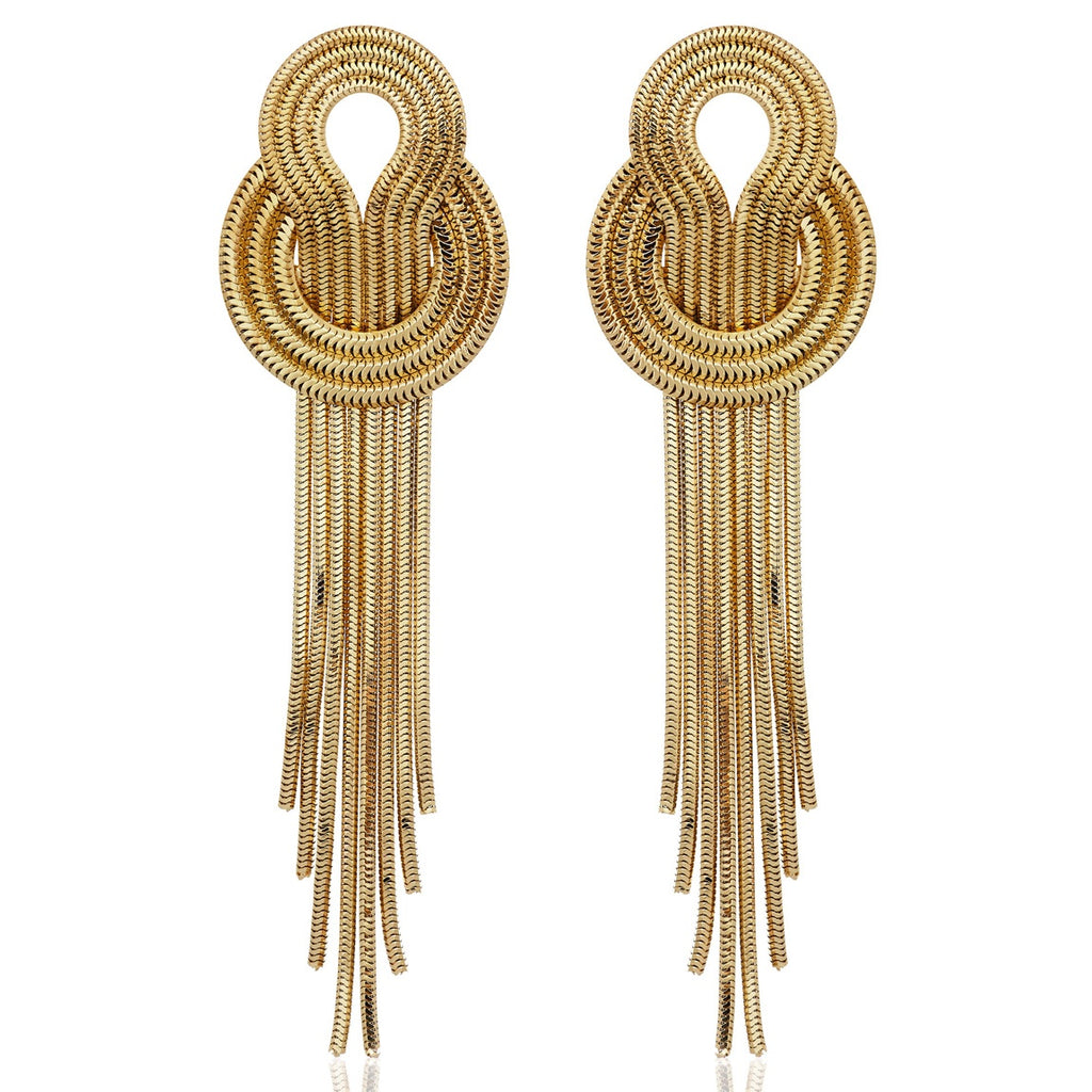 Saturn Earrings  <br /> 22ct Yellow Gold on Brass
