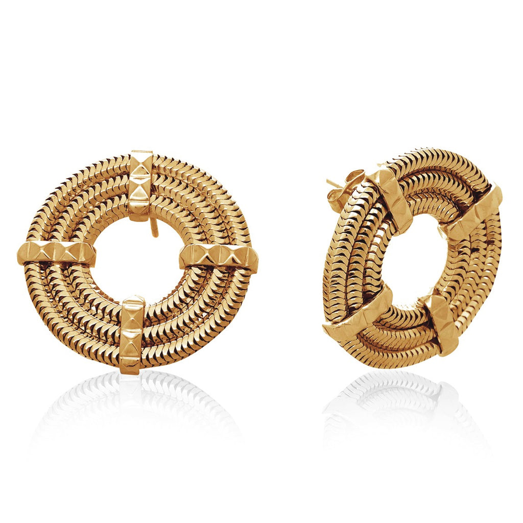 Apollo Stud Earrings <br /> 22ct Yellow Gold on Brass