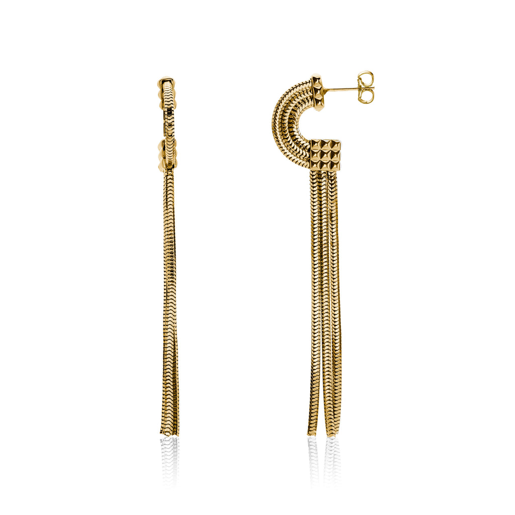 Moonrise Earrings  <br /> 22ct Yellow Gold on Brass