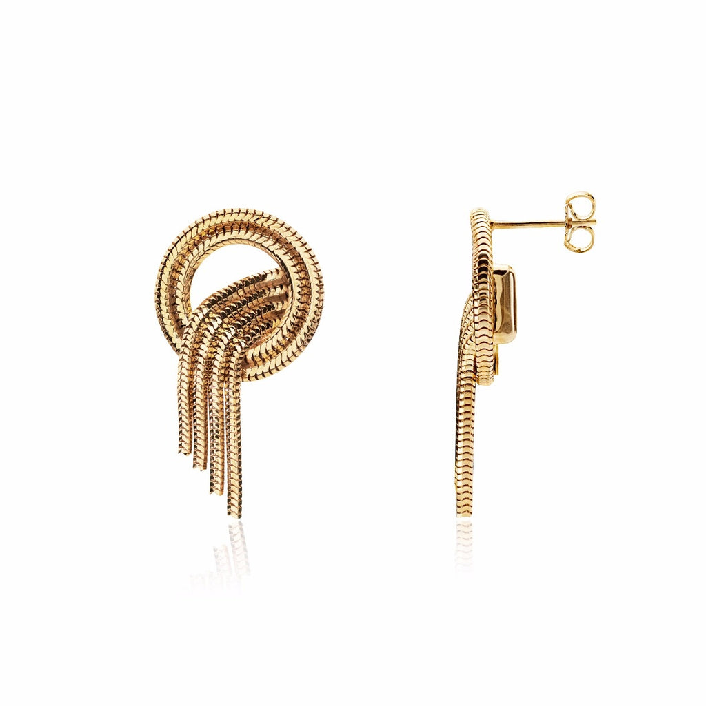 Shooting Stars Studs <br /> 22ct Yellow Gold on Brass