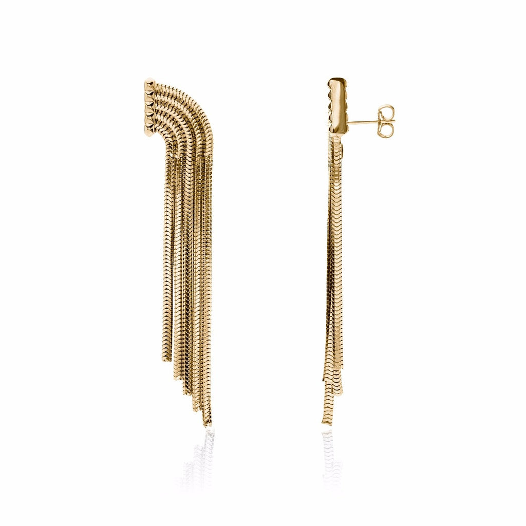 Shooting Stars Earrings  <br /> 22ct Yellow Gold on Brass