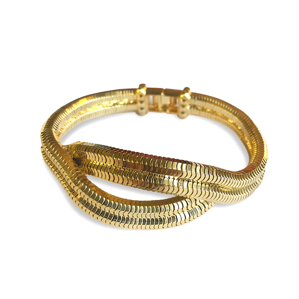 Eclipse Wave Bracelet <br /> 18ct Yellow Gold plated Brass