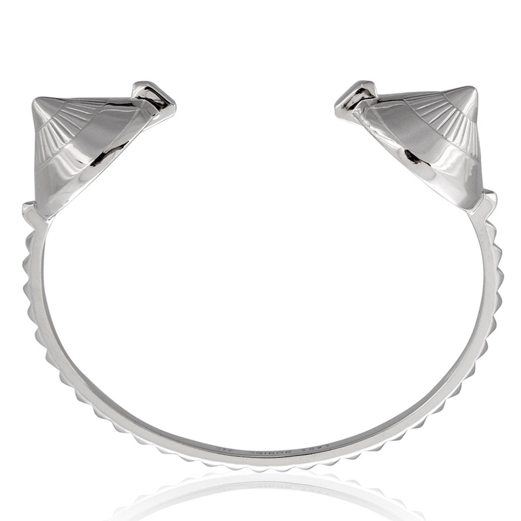 Eye Open Cuff </br> Sterling Silver Plated in Rhodium