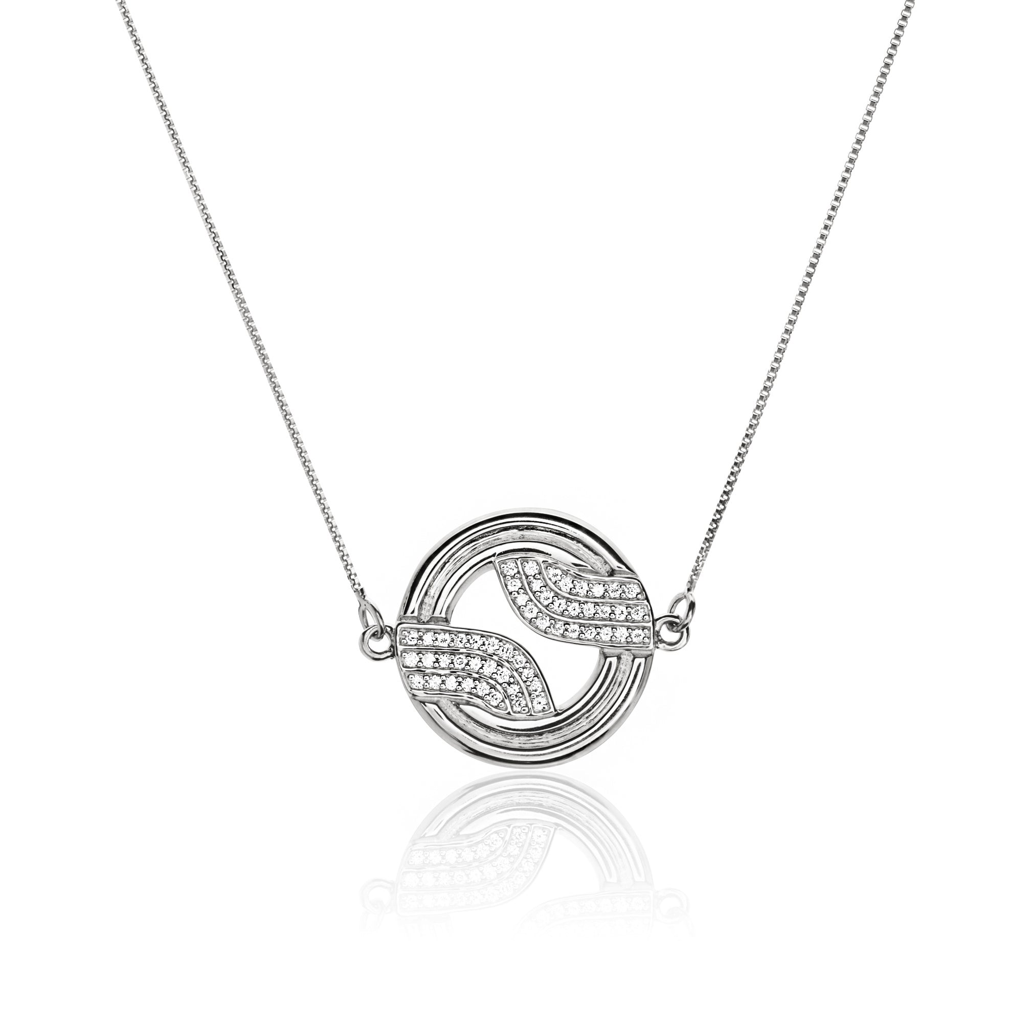Stenmark Diamond Solar Pendant 15 </br> 18ct White Gold with Diamonds