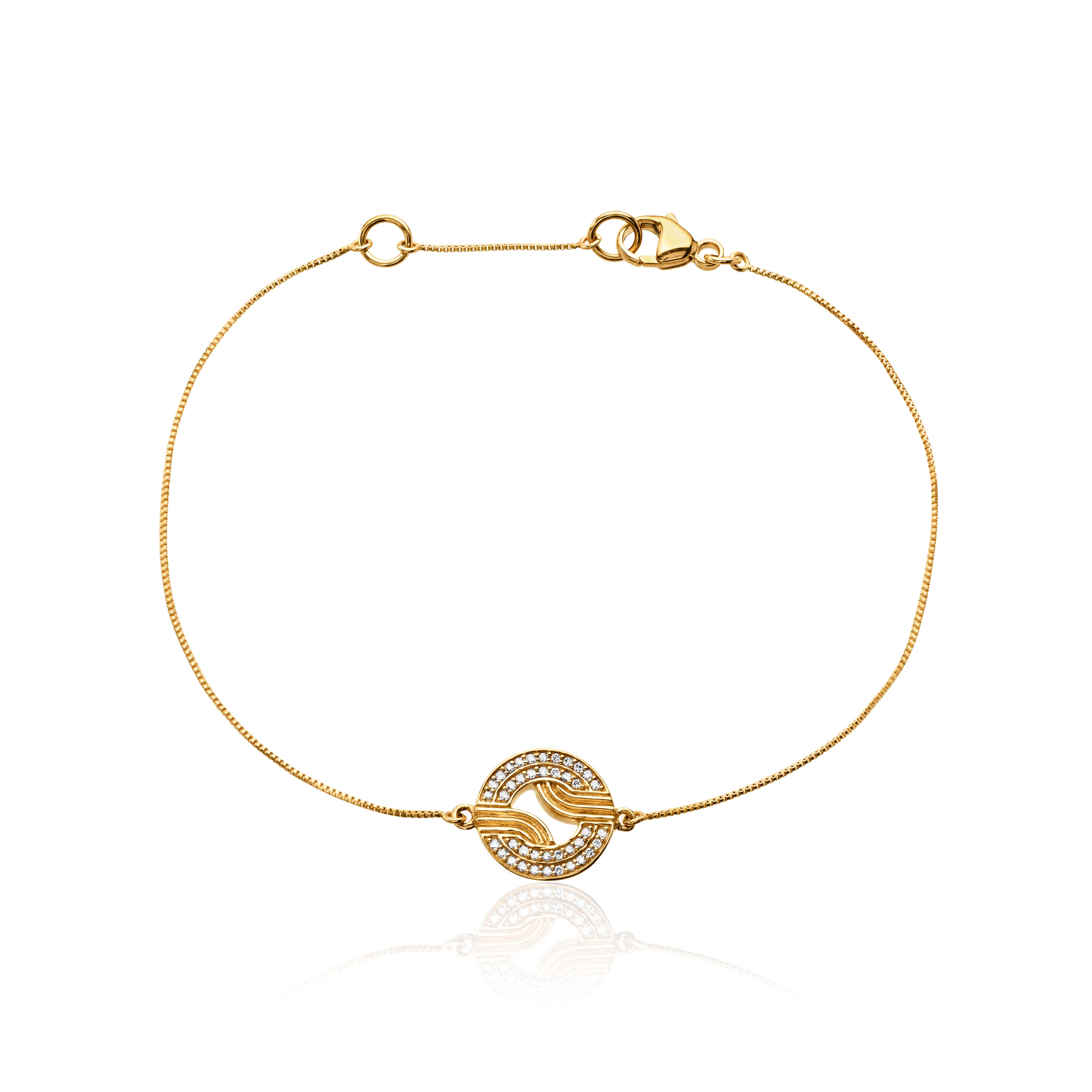Stenmark Diamond Chain Bracelet </br> 18ct Yellow Gold with Diamonds