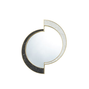 Half Moon Mirror </br> Marble with Brass