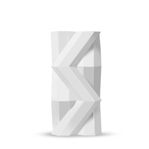 Fortress Tower Vase </br> White Ceramic