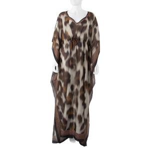 Leopard Kaftan </br> Long
