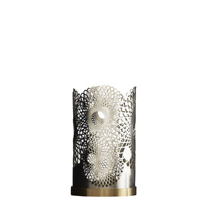 Feather Candleholder </br> Silver