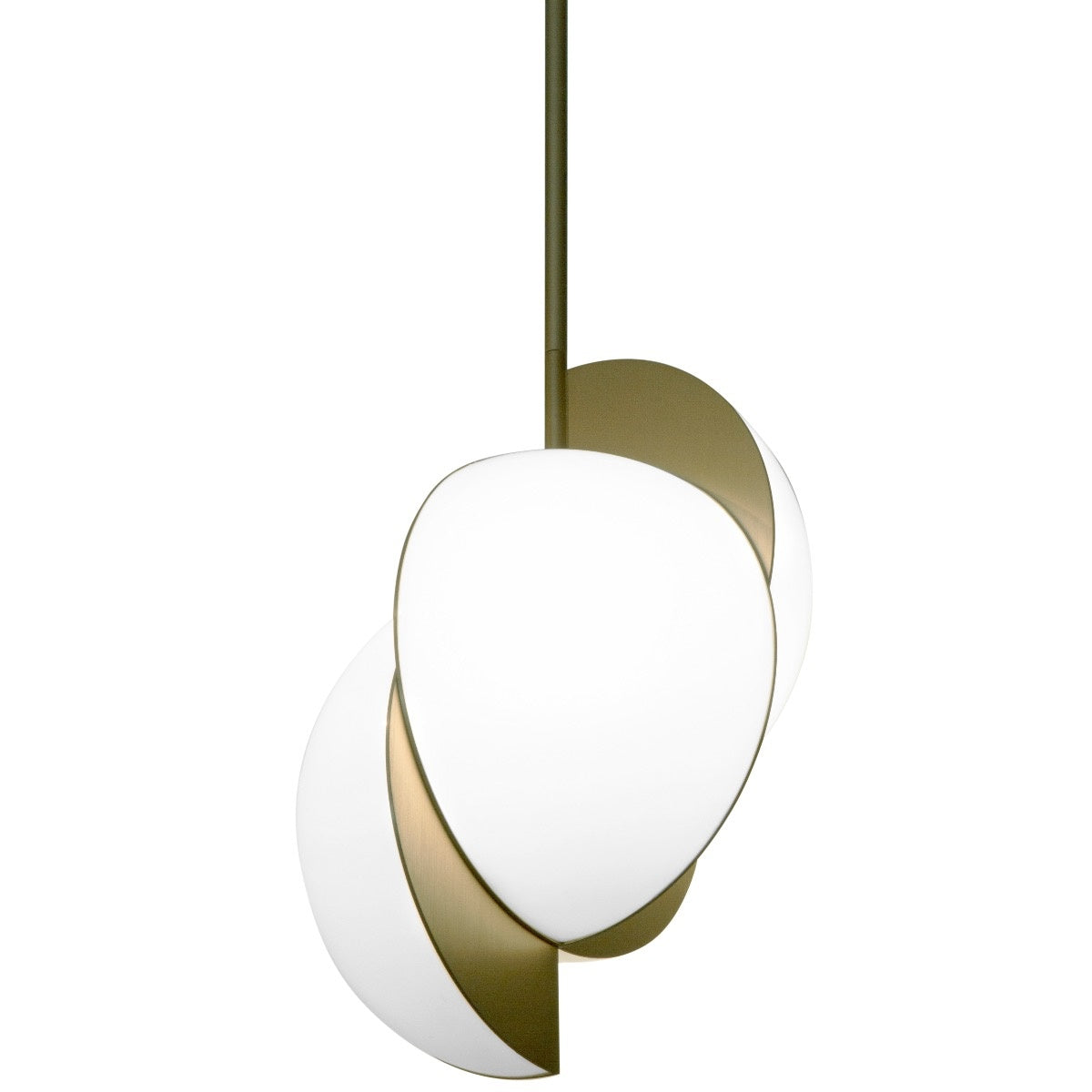 Collision Ceiling Light </br> Gold Galvanic With White Acrylic