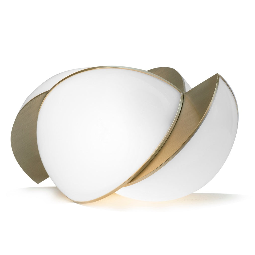 Collision Large Table Light</br> Gold Galvanic With White Acrylic