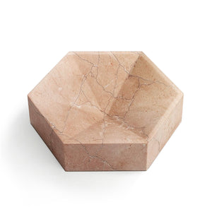 Hexagonal Constellation Bowl Large & Low </br> Buiscaro Rosa