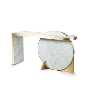 Collision Console </br> Marble with Brass