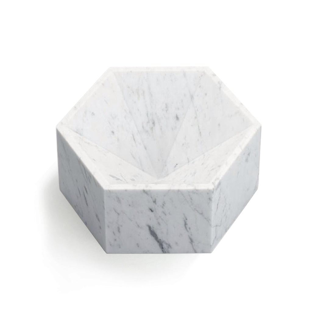 Hexagonal Constellation Bowl Small & High </br> Carrara